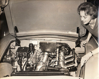 Lea-Francis Leaf-Lynx Roadster With New Power Unit, Period Photograph.