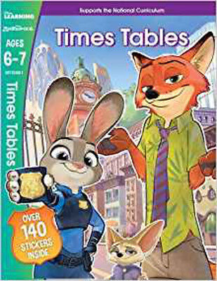 Zootropolis - Times Tables, Ages 6-7 (Disney Learning), New, No author Book