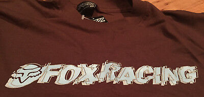 FOX Racing Shirt XL in Brown BNWT
