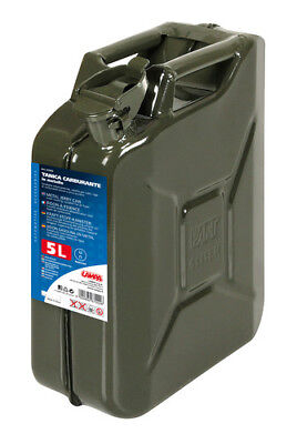 Tanica carburante tipo militare in metallo - 5 L Lampa 67002