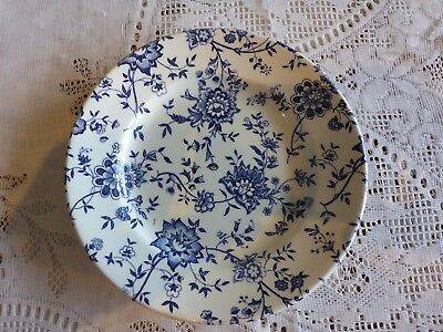 Broadhurst England 17 Cm Ironstone Plate Jacobean Blue Flower Replacement Piece
