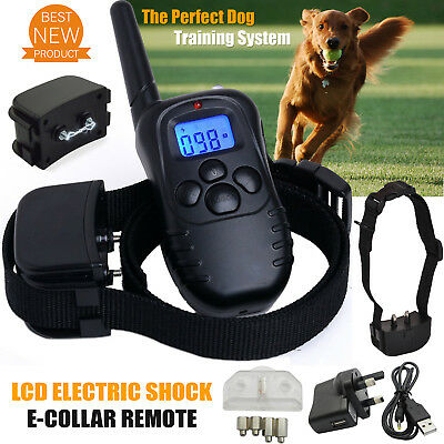 Dogs Anti-Bark LCD Electric Shock E-Collar Training Remote Control Rechargeable