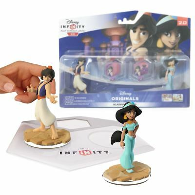 New Disney Infinity 2.0 Aladdin & Jasmine Toy Box Playset Figures Official