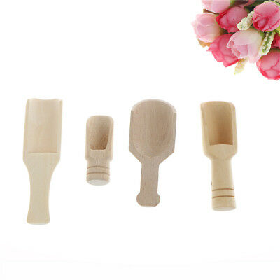 Wooden Scoops Salt Powder Spoon Bath Shower Tool Bath Salts Laundry Detergent TK