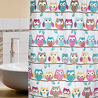 Fitlit Cartoon Owl tenda da doccia in PEVA, 180 x 200 cm, impermeabile Mouldproo