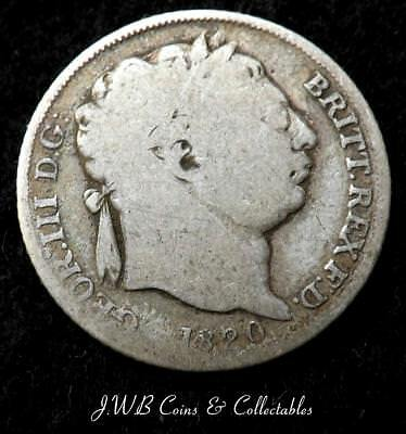 1820 George III Silver 6d Sixpence Coin