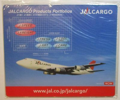 "JAL Japan Airlines 1990's  Mouse Pad  - 747  Cargo     7x9""  -   1970's?"