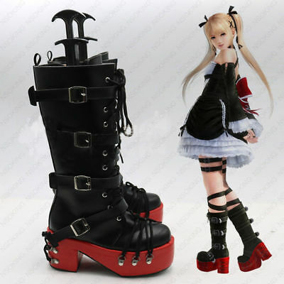 Game Dead or Alive 5 Marie Rose Cosplay Shoes Anime Party Boots:Free Shipping