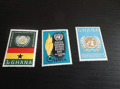 Ghana 1960 Sg 256-258 Human Rights Day Mnh