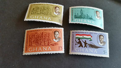 Ghana 1964 Sg 335-338 4Th Anniv Of Republic Mnh