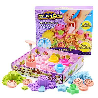 Motion Sand Coloured Cookie Maker Magic Childrens/Kids Moving Play-Set