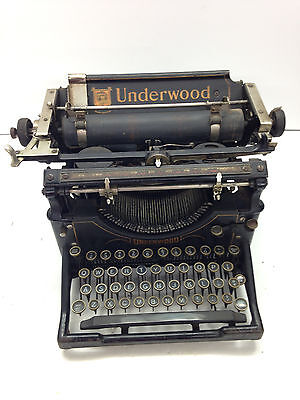 Antique Underwood Typewriter Cast Iron Art Deco Steampunk Vintage