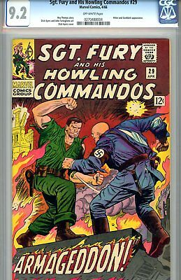 Sgt. Fury #29 CGC GRADED 9.2 - fourth highest graded - Hitler appearance
