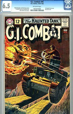 G.I. Combat #91 CGC GRADED 6.5 - first Haunted Tank cover - fifth Haunted Tank