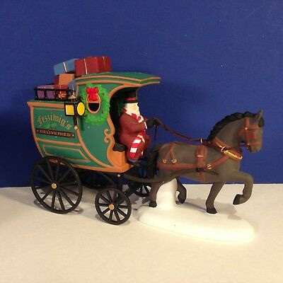 Dept 56 Dickens Village THE FEZZIWIG DELIVERY WAGON w/ box Combine Shipping!