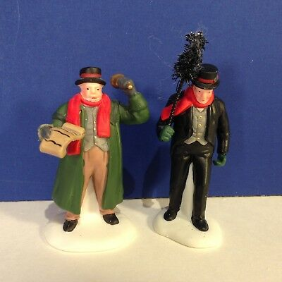 Dept 56 Dickens Village TOWN CRIER & CHIMNEY SWEEP w/ box Combine Shipping!