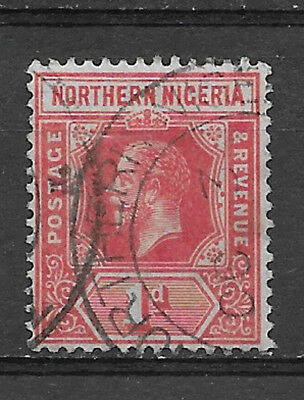 NORTHERN ,  NIGERIA , 1912 , KING GEORGE V , 1p STAMP  PERF , USED