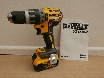 Dewalt Xr 18V Dcd796 Combi Hammer Drill Bare Unit + Dcb184 5 Ah Battery