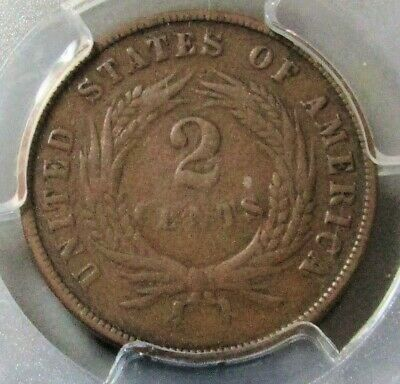 1872 Two Cent Coin Pcgs Fine 12 Key Date