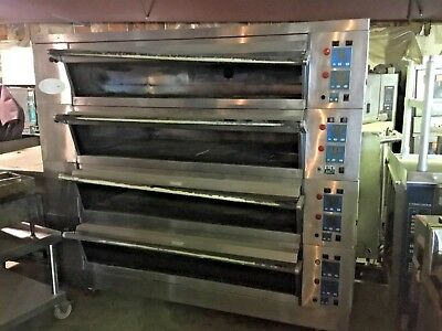 Commercial Modular 4 Deck Electric Oven American Baking Systems ABS USED