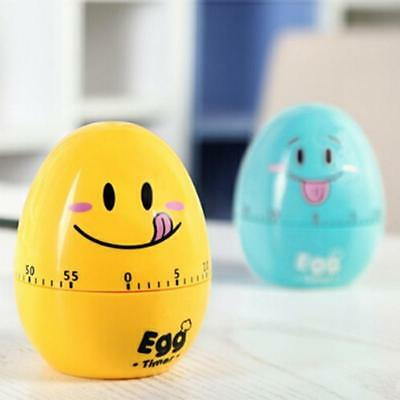 Cute Egg Manual Timer Kitchen Cooking Tool 60 Minutes Mechanical Alarm Clock LG