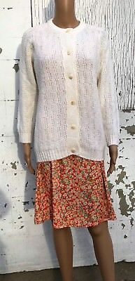 Vintage Knit Cardigan Sweater 1960s Your Barbara Sue Free Shipping