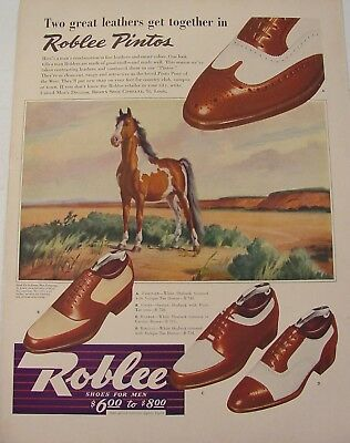 1942 Wesley Dennis Pinto Pony Roblee Pintos Shoes Brown Shoe Company Print Ad