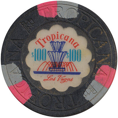 Tropicana House Mold Las Vegas Nevada $100 Casino Chip - Great Collectible Chip*