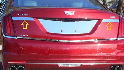 QAA 1PC STAINLESS LICENSE PLATE TRIM LP53245 FITS 2013-2017 CADILLAC CADY XTS