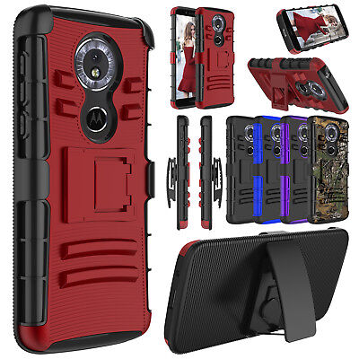 For Motorola Moto G6/G6 Play Shockproof Case Clip Holster Kickstand Phone Cover