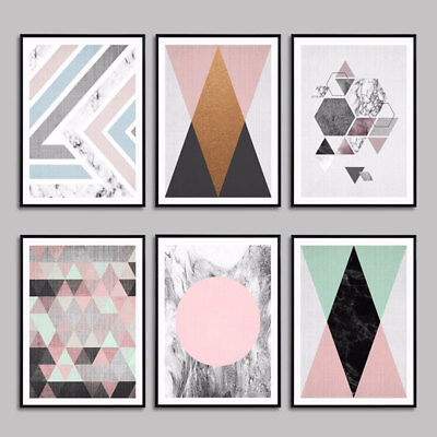 Canvas Abstract Geometric Mountain Poster Art Prints Wall Painting Home Decor