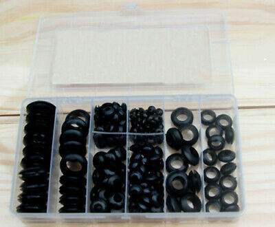 Rubber Grommet Assortment Set Harness Grommet Electrical Wire Gasket NEW 200 pcs