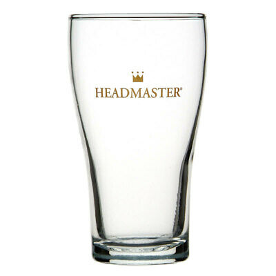 48x Crown Commercial Crowntuff Conical Headmaster Beer Glass 425mL Nucleated