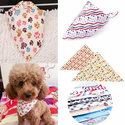 1Pc Pet Dog Scarf Collar Puppy Cat Triangular Decoration Mouth Water Towel 63cm