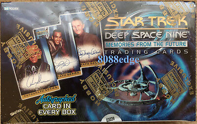 "1999 Skybox ""star Trek Ds9 Meories From The Future"" Factory Sealed Box: Auto Per"