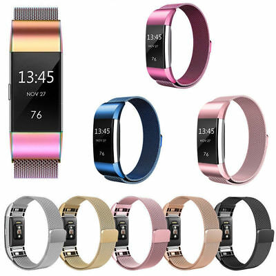 For Fitbit Charge 2 Strap Replacement Milanese Loop Band Stainless Steel UK