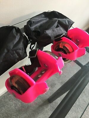 Pink Roller Wheels Like Roller Skates Rollerblades But Attach To Shoes!