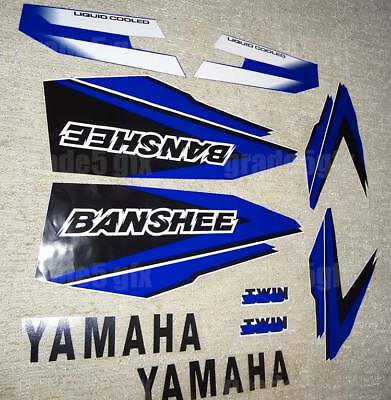 98' 1998 Yamaha Banshee Blue/White/Black Decals Stickers Quad Graphics 10pc kit