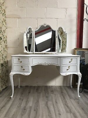 Romantic French Louis style dressing table, 1960s, by Olympus Furniture London