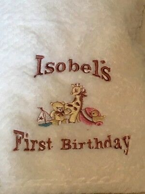 Personalised Baby Blanket Embroidered Soft Waffle  Boy Girl Gift