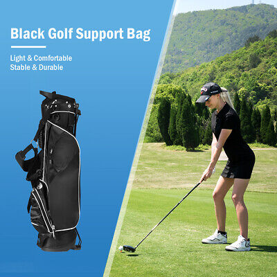 Brand New Costway Golf Bag w/4 Way Divider Stand Cart Bag Portable Black Carry
