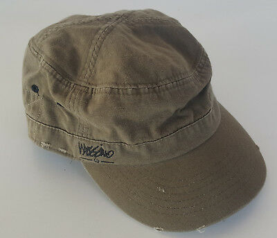 MOSSIMO Green Hat Army Military Cadet Style Cap Strap Back *Like New
