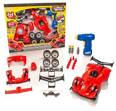 Take Apart 2in1 F1 Race Car Childrens/Kids Model Construction Kit Drill Tool Toy