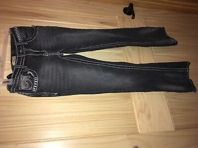 Mudd jeans w/ embellishments & adjustable waist girl size 14 X 28