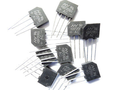KBP206 G   Diode Rectifier Bridge Single 600V 2A 4-Pin x10pcs