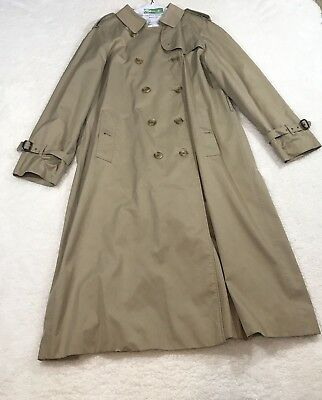 Vintage Burberrys Women's Trench Coat Khaki Lined size 14 Long