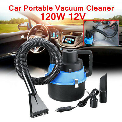 Portable Wet Dry Canister Mini Car Boat Vacuum Cleaner Air Inflating Pump 12V US