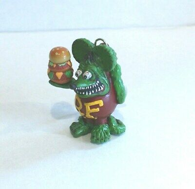 "Great Little Ed Roth ""rat Fink"" Figure Burger Tower Key Chain Hard To Find Gift"