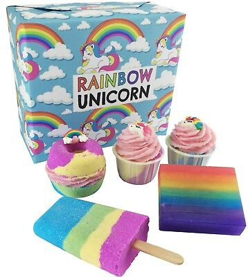 Rainbow Unicorn Gift Set | Present | Bath Bombs | Mothers Day Gift | Handmade
