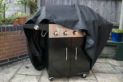 Very Heavy Duty BBQ Cover Barbecue Waterproof Breathable 120x145x70 Velcro Large